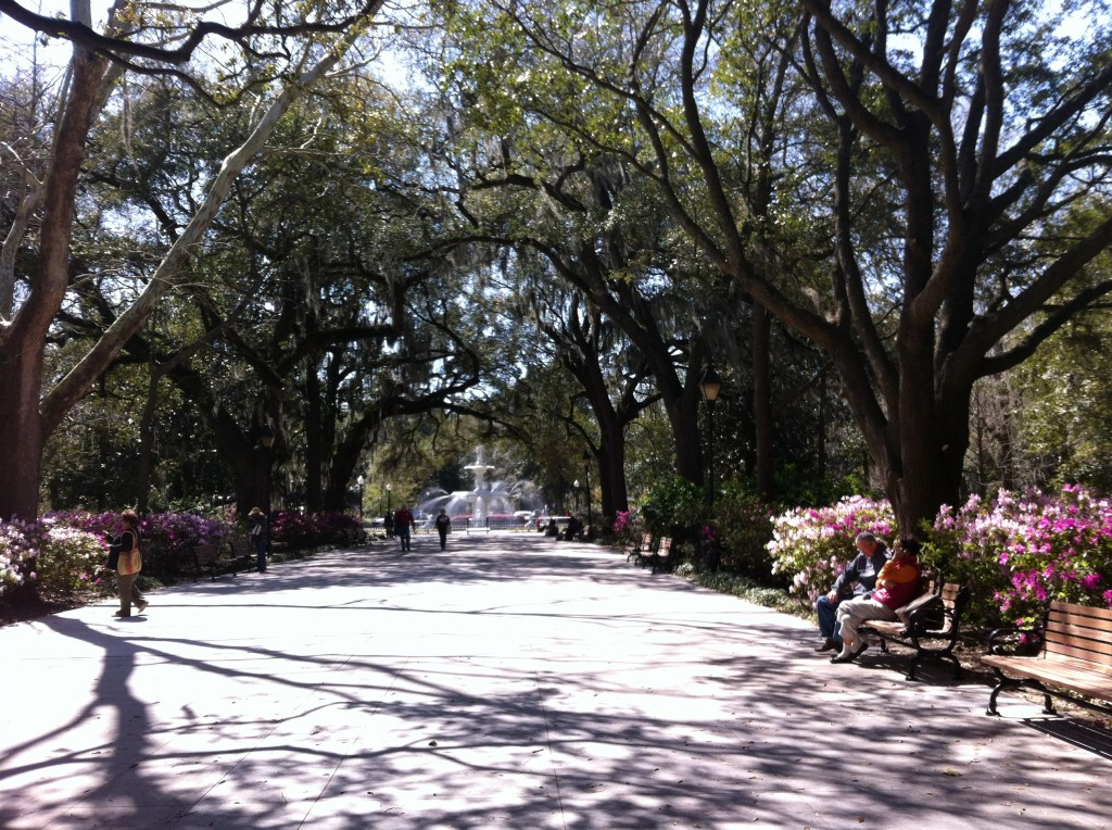 Framed by blooming azaleas and sweeping Spanish moss, time, appears to linger in the 17th century in Savannah.