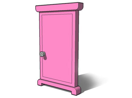 """Another famous gadget is the """"Anywhere Door."""" Through the door, you can go anywhere you want in the world, including back in time."""