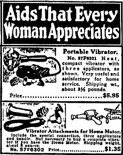 Portable Vibrator, as advertised (Photo Credit: Wikipedia)