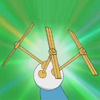 A classic gadget from Doraemon is the bamboo-copter. Put this on, you can fly in the air