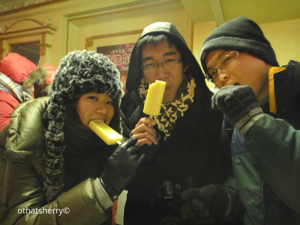 Sharing a butter-popsicle-brain-freeze moment with new friends (Haerbin, China, 2011)